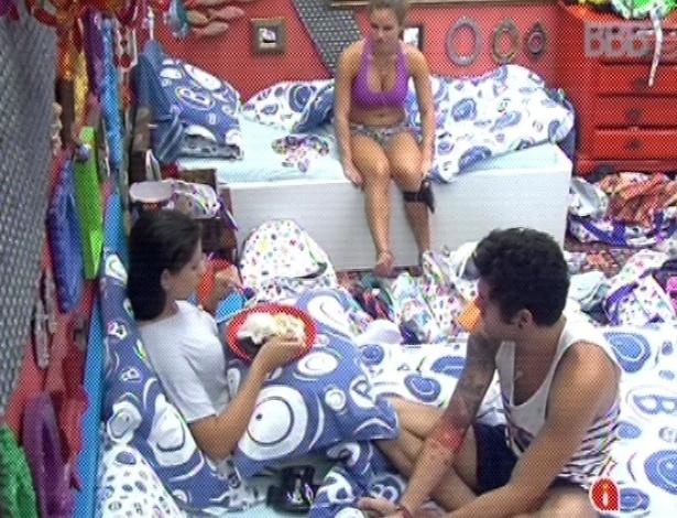 """15.mar.2013 - Andressa lamenta não ter vencido a prova do líder. """"Não deu"""""""
