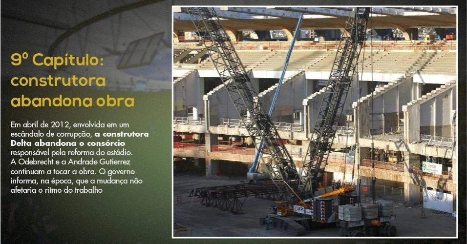 15.mar.2013 - Delta deixou obra do Maracanã enquanto a reforma do estádio ainda estava na metade