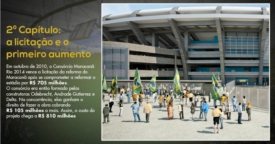 15.mar.2013 - Imagem mostra projeto de reforma do Maracanã para a Copa do Mundo de 2014