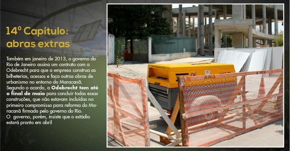 15.mar.2013 - Obras no entorno do Maracanã foram licitadas mais tarde e podem se estender até maio