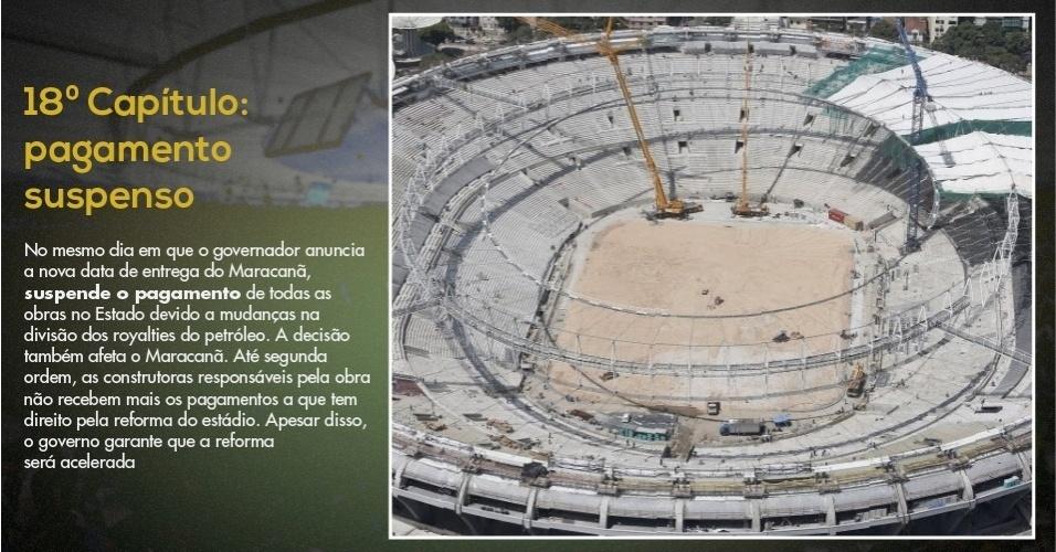15.mar.2013 - Últimas fotos do Maracanã mostram gramado recém-plantado no estádio