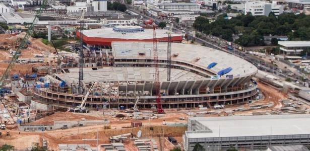 Ao fim de fevereiro, a Arena Amazônia, estava com 56% dos trabalhos concluídos