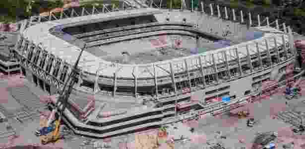 Construção da Arena Pernambuco - Divulgação - Divulgação