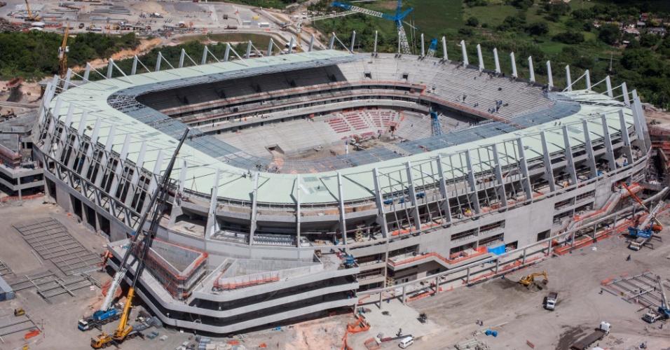 Ao fim de fevereiro de 2013, a Arena Pernambuco, na Grande Recife, estava 90% concluída, de acordo com o governo estadual de Pernambuco