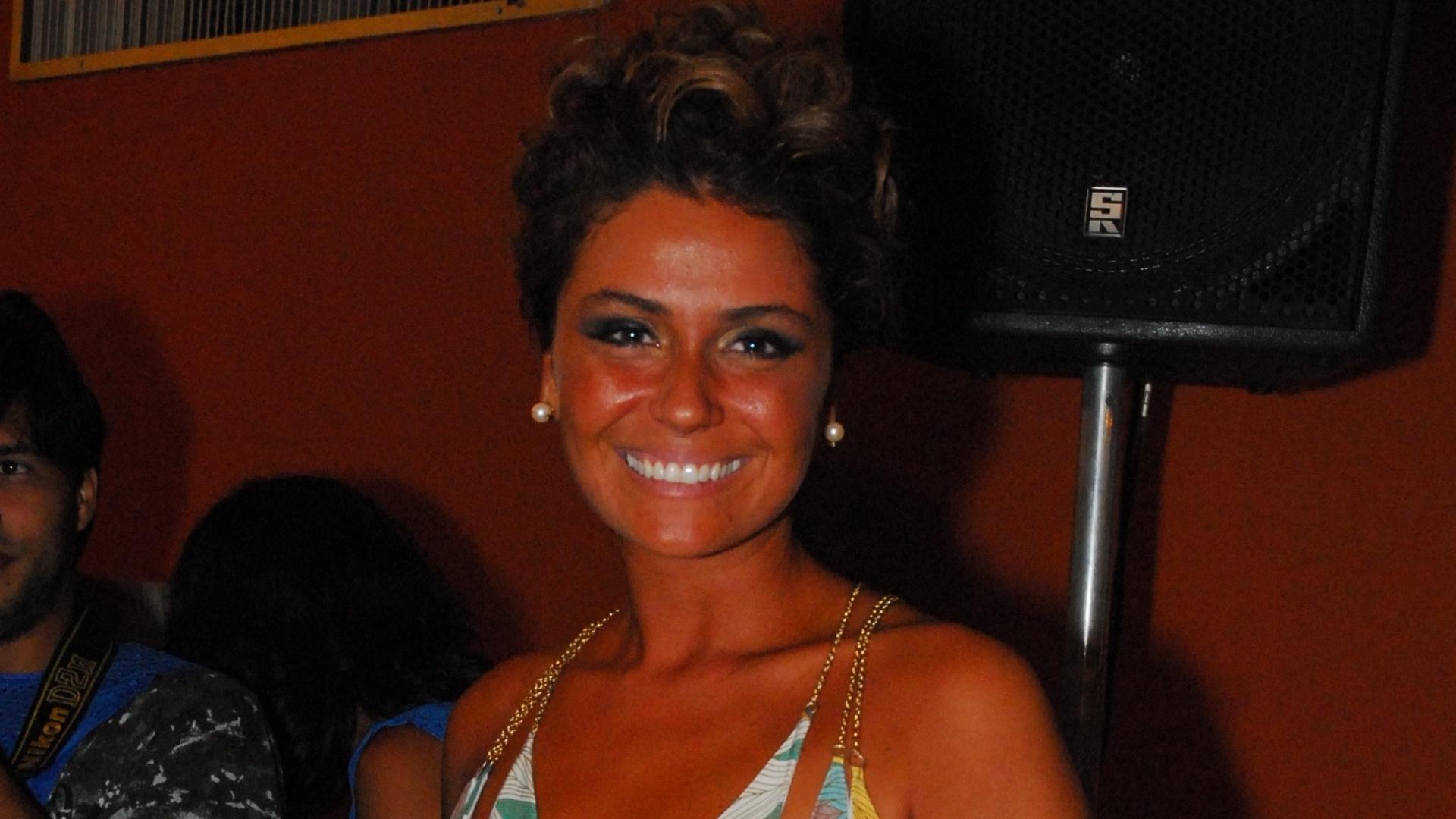 Giovanna Antonelli durante a festa de lançamento da minissérie