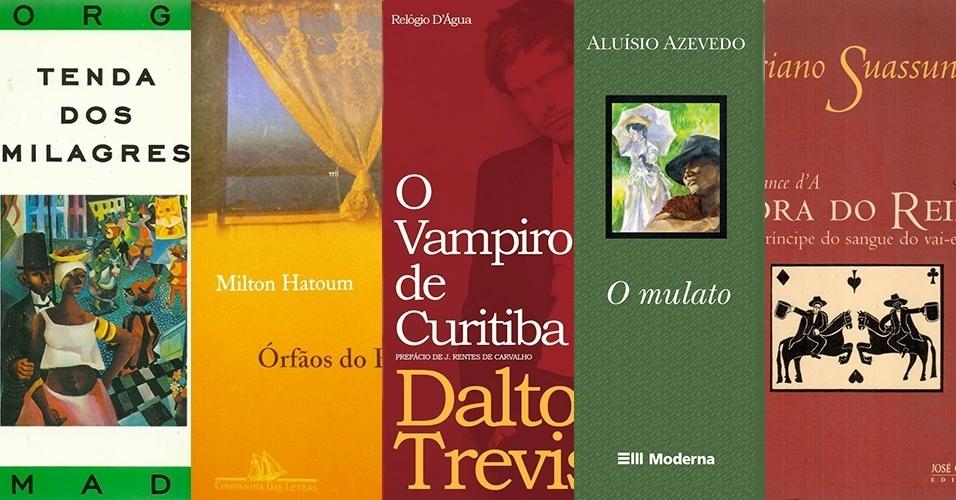 montagem de capas de livro de literatura