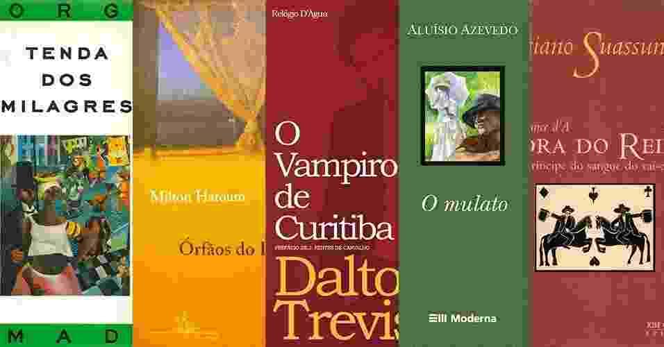 montagem de capas de livro de literatura - Montagem/Divulgação