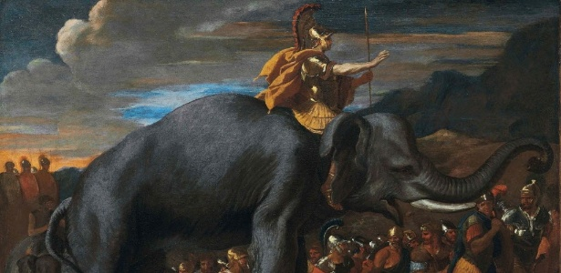 "Pintura ""Hannibal Crossing the Alps on an Elephant"" , de Nicolas Poussin - REUTERS/Christie""s Images"