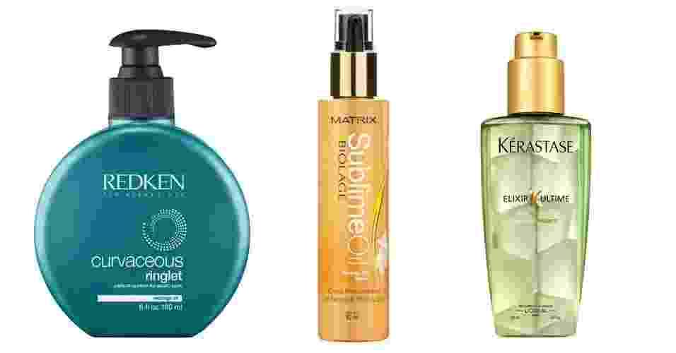 Produtos para os cabelos com óleo de moringa - Montagem UOL/Divulgação