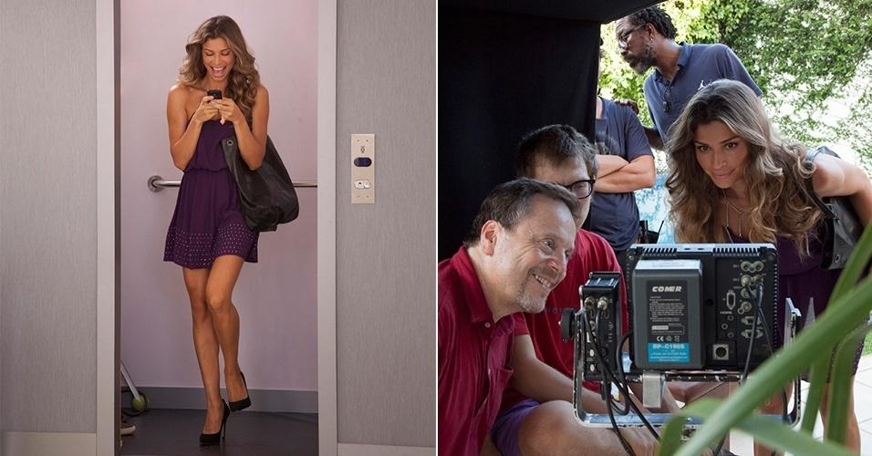 16.mar.2013 - Grazi Massafera estrela comercial de nova operadora de celular