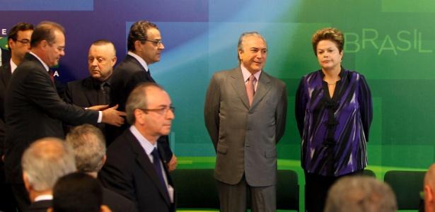 Dilma e Temer no Palácio do Planalto, em Brasília, em 2013