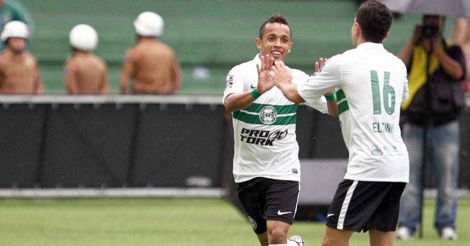 O outro gol do Coritiba na vitória sobre o Cianorte por 2 a 0 foi marcado por Rafinha