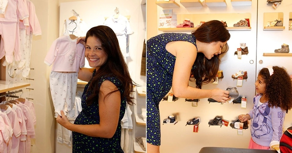 17.mar.2013 - Samara Felippo compra o enxoval da filha em shopping no Rio