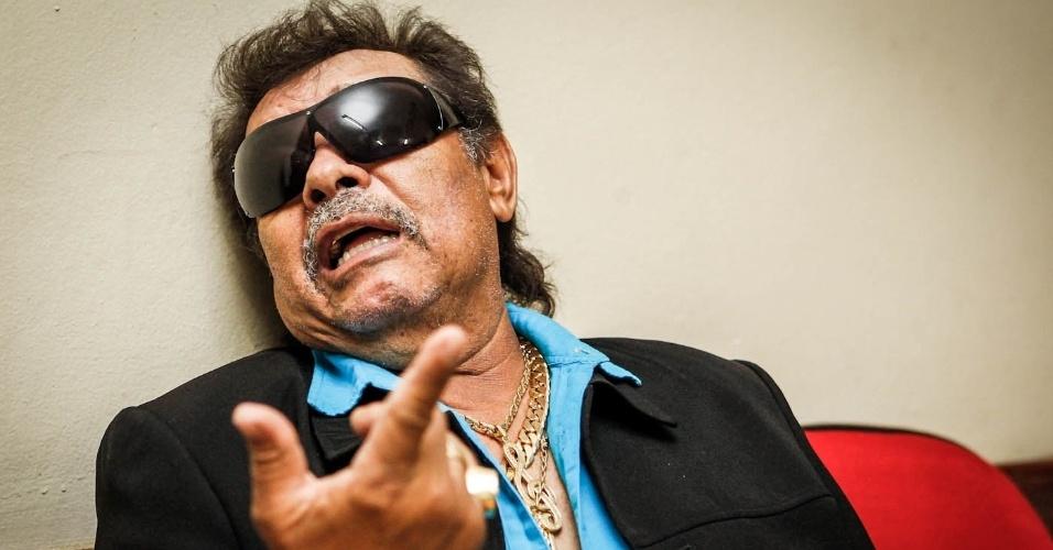 15.mar.2013 - O cantor José Rico, da dupla Milionário e José Rico, comenta os 43 anos de carreira pouco antes de se apresentar em São Bernardo do Campo