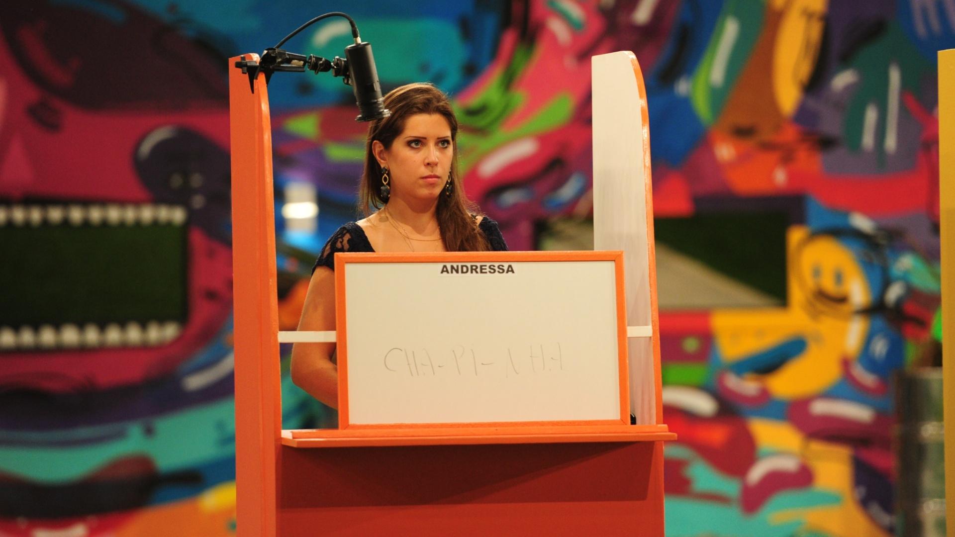 17.mar.2013 - Andressa e Fernanda competem na 12ª prova do líder do