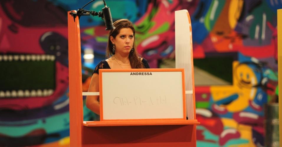 "17.mar.2013 - Andressa e Fernanda competem na 12ª prova do líder do ""BBB13"""