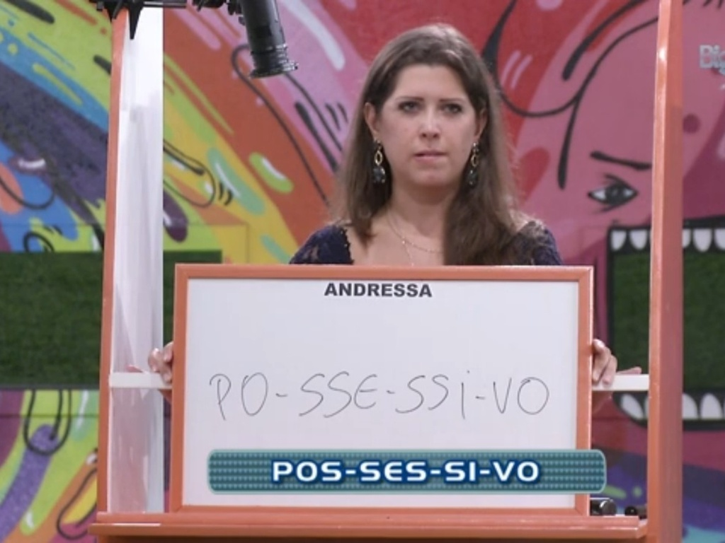 17.mar.2013 - Andressa erra separação de sílabas da palavra