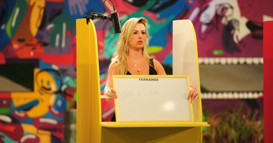 "17.mar.2013 - Fernanda participa da 12° prova do líder do ""BBB13"""