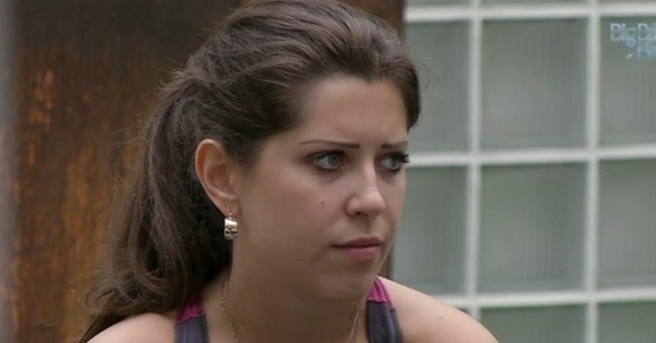 18.mar.2013 - Andressa diz que voto em Fernanda não foi