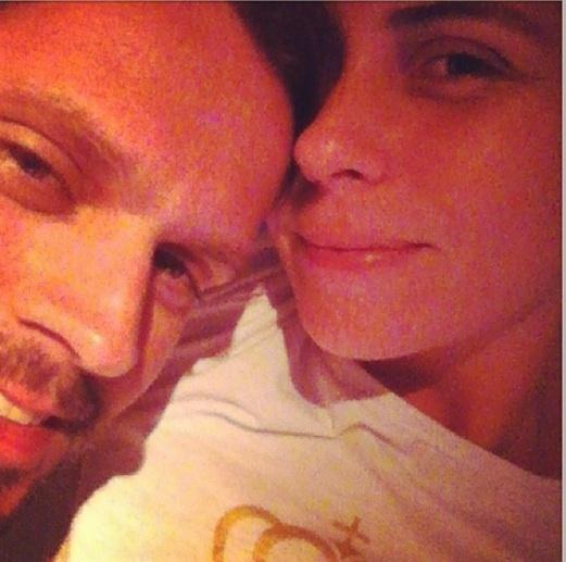18.mar.2013 - Giovanna Antonelli comemorou as primeiras horas do dia do seu aniversário ao lado do marido, Leonardo Nogueira
