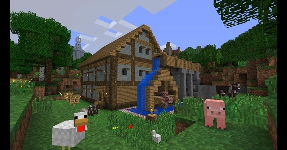 """As mais de 20 milhões de cópias vendidas de """"Minecraft"""" (PC/X360/celulares) não mentem: o game de exploração e construção é extremamente viciante."""