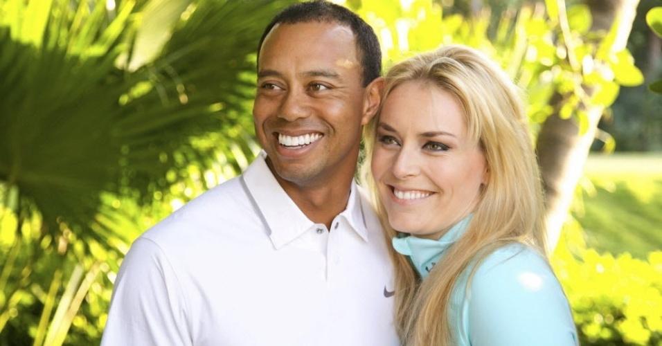 Golfista Tiger Woods e Lindsay Vonn, campeã olímpica do esqui em 2010, confirmaram o namoro em março de 2013