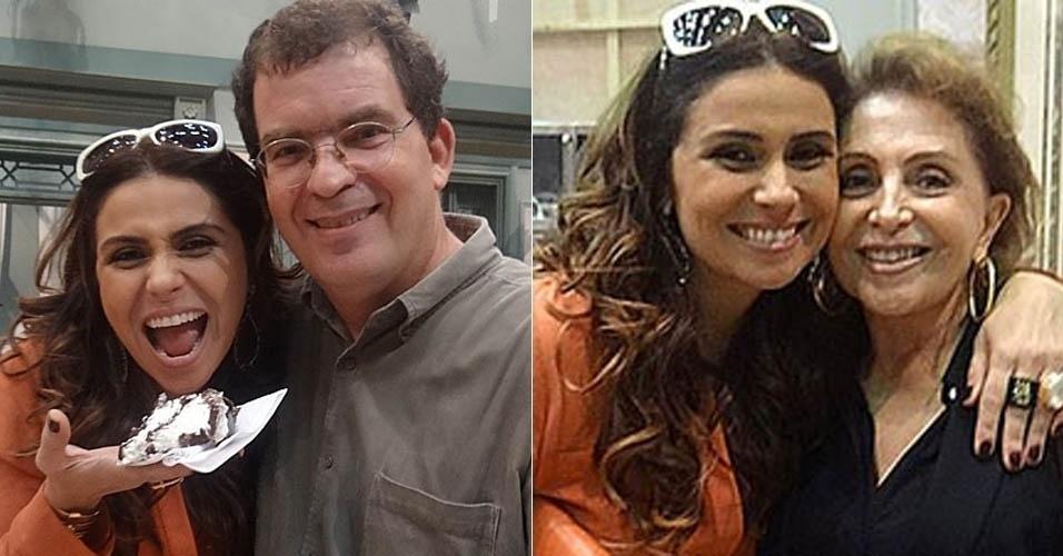 18.mar.2013 - Giovanna Antonelli ganha festa surpresa nos bastidores de ?Salve Jorge?