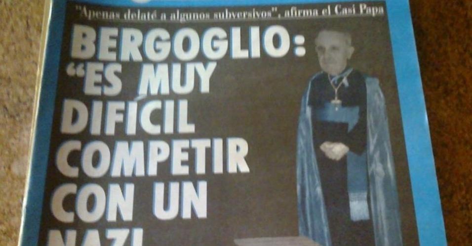 19.mar.2013 - Desde 2005 a escolha do papa inspira o humor. Após o conclave que naquele ano elegou o cardeal alemão Jospeh Ratzinger como o papa Bento 16, uma das revistas mais irreverentes da Argentina, a