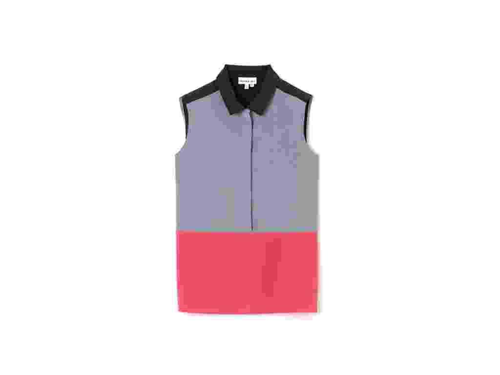 Camisa sem manga cinza, rosa e preta; R$ 389, na Lacoste (www.lacoste.com.br). Preço pesquisado em março de 2013 e sujeito a alterações - Divulgação