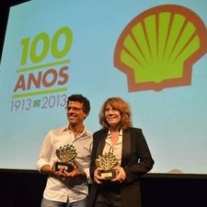 Renata Sorrah e Gustavo Gasparini, que venceram os prêmios de melhor ator e melhor atriz - Léo Marinho e Alex Palarea/AgNews