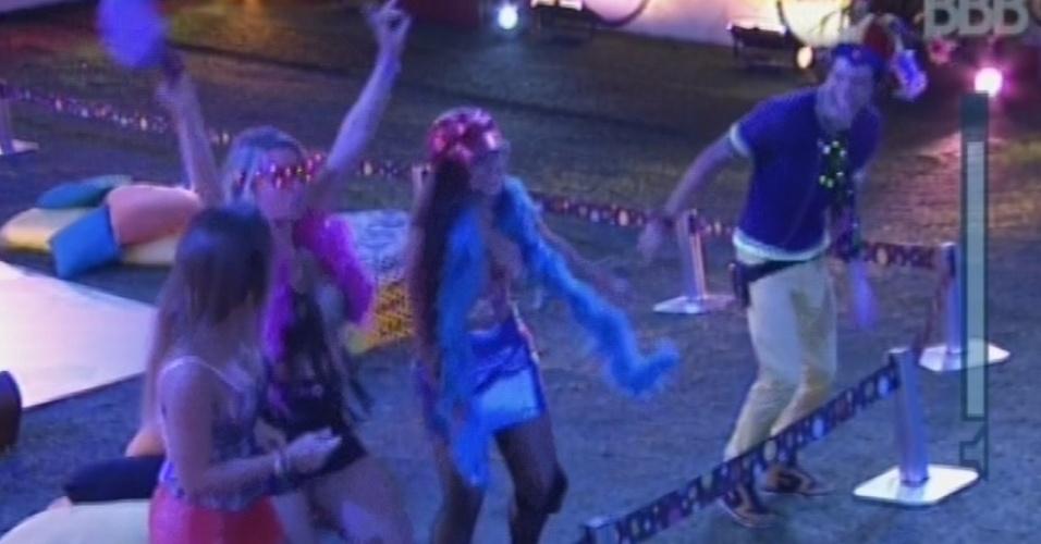 """20.mar.2013 - Brothers dançam ao som de """"É Tenso"""" durante show de Fernando & Sorocaba"""