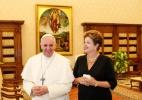 Papa diz a Dilma que visitará Aparecida durante viagem ao Brasil (Foto: Roberto Stuckert Filho/Divulgação)