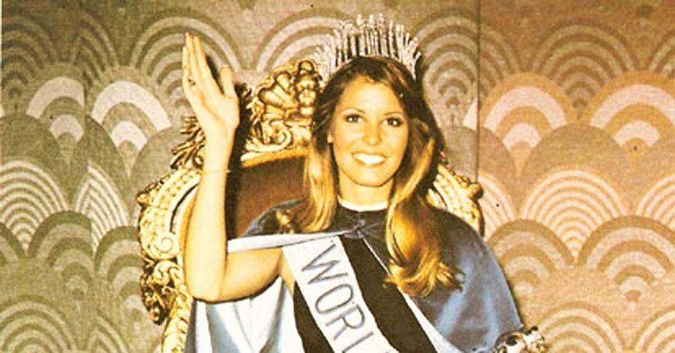 A americana Marjorie Wallace venceu o Miss Mundo 1973, realizado em Londres, no Reino Unido