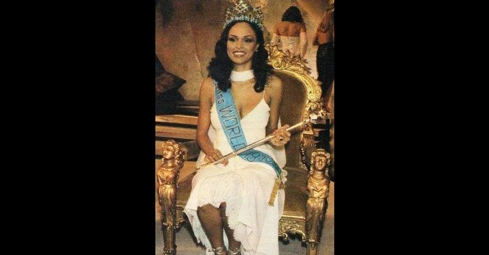 A britânica das Bermudas Gina Ann Casandra Swainson venceu o Miss Mundo 1979, realizado em Londres, no Reino Unido
