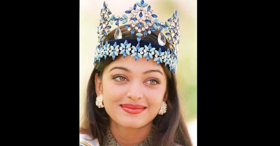 A indiana Aishwarya Rai venceu o Miss Mundo 1994, realizado em Sun City, na África do Sul