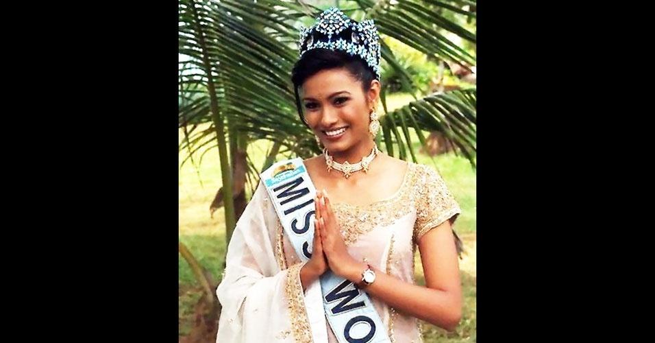 A indiana Diana Hayden venceu o Miss Mundo 1997, realizado em Baie Lazare, nas Seychelles