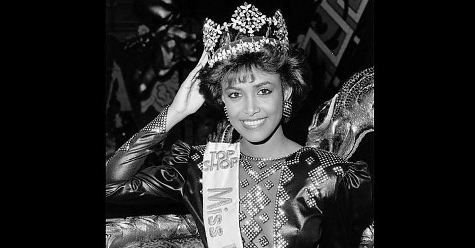 A trinitária (de Trinidad e Tobago) Giselle Jeanne-Marie Laronde venceu o Miss Mundo 1986, realizado em Londres, no Reino Unido