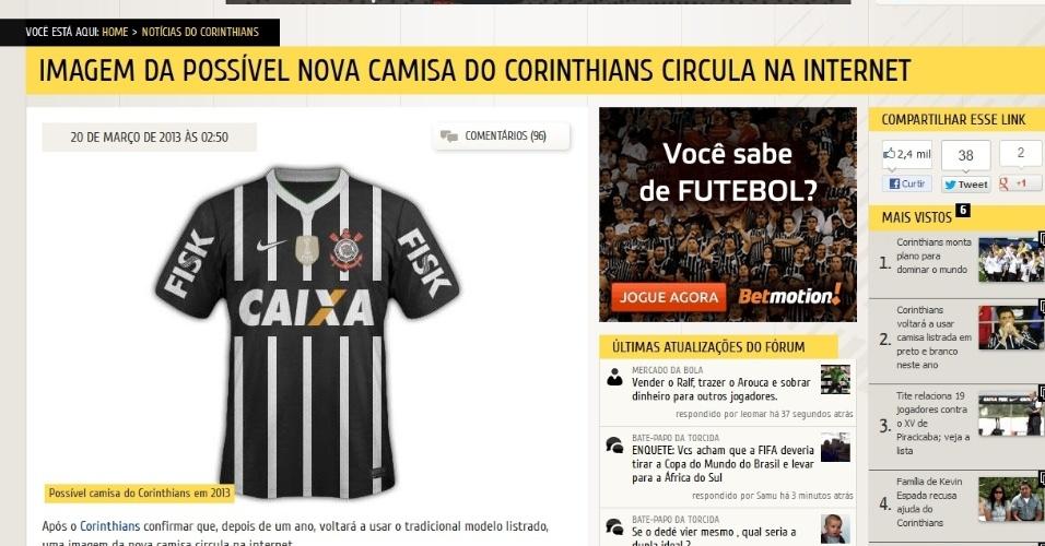 5ae0393b4a Camisas do Corinthians ao longo da história - Futebol - UOL Esporte