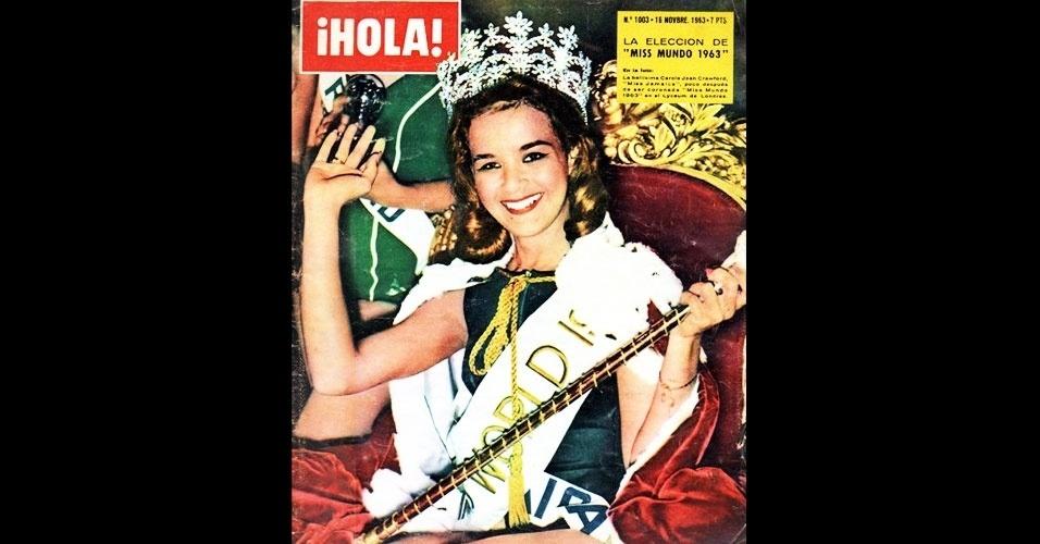 A jamaicana Carol Joan Crawford venceu o Miss Mundo 1963, realizado em Londres, no Reino Unido