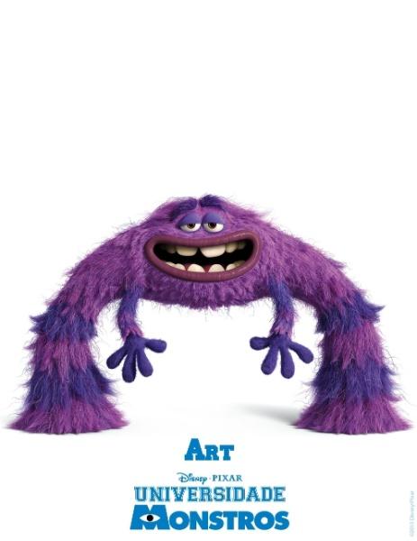 """21.mar.2013 - A Disney Pixar divulgou novo pôster do filme """"Universidade Monstros"""". A animação estreia dia 21 de junho nos Estados Unidos"""