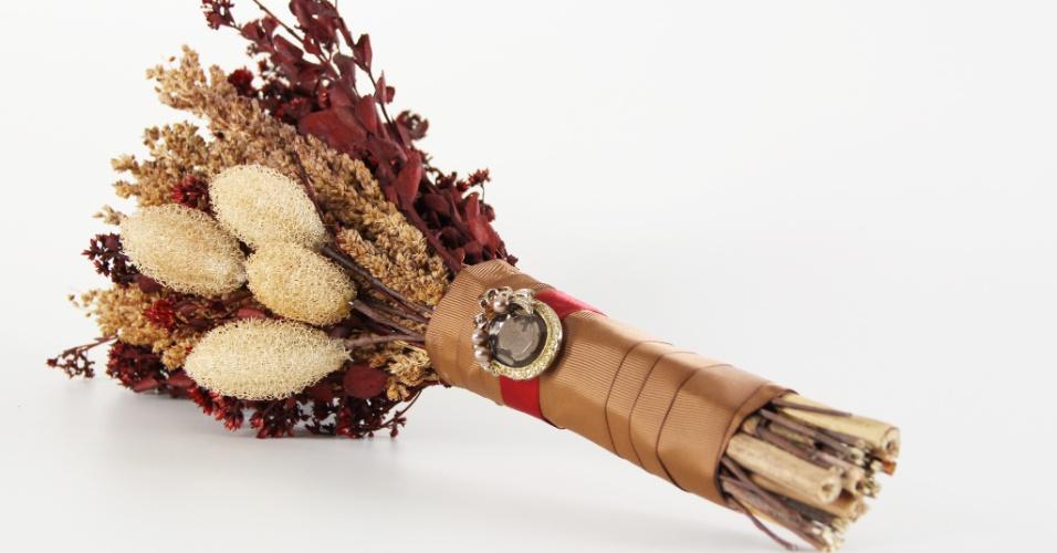Arranjo de flores secas; a partir de R$ 350,00, na Bouquet Boutique (www.bouquetboutique.com.br). Preço pesquisado em março de 2013 e sujeito a alterações