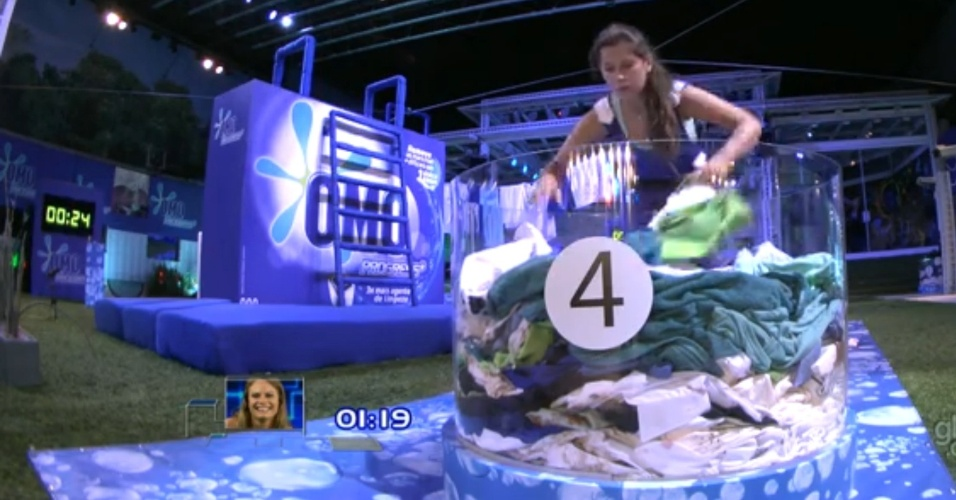 22.mar.2013 - Andressa foi a última a participar da segunda etapa da prova do líder