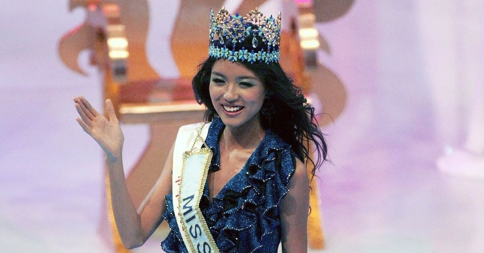 A chinesa Zi Lin Zhang venceu o Miss Mundo 2007, realizado em Sanya, na China