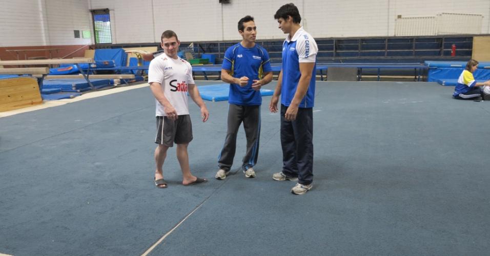 Arthur Zanetti, Henrique Medina e Francisco Barreto Jr. integram a equipe que treina em São Caetano do Sul