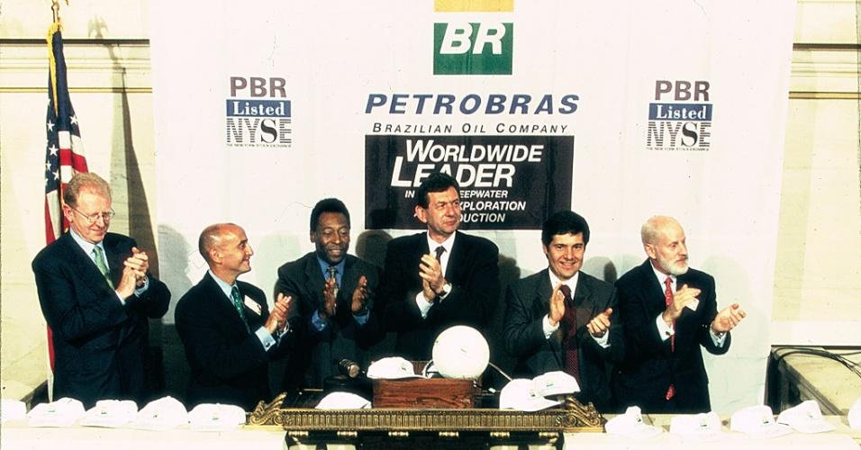 Estreia da Petrobras na NYSE, Bolsa de Nova York, Pelé