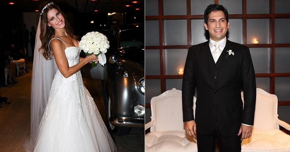 23.mar.2013 - A apresentadora Ana Luiza Castro, da GNT, se casa com o executivo Pedro Navio na Casa Fasano, em São Paulo