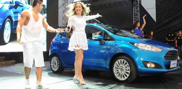 Ford New Fiesta nacional, coadjuvante em show da cantora Claudia Leitte neste domingo no ABC - Divulgação