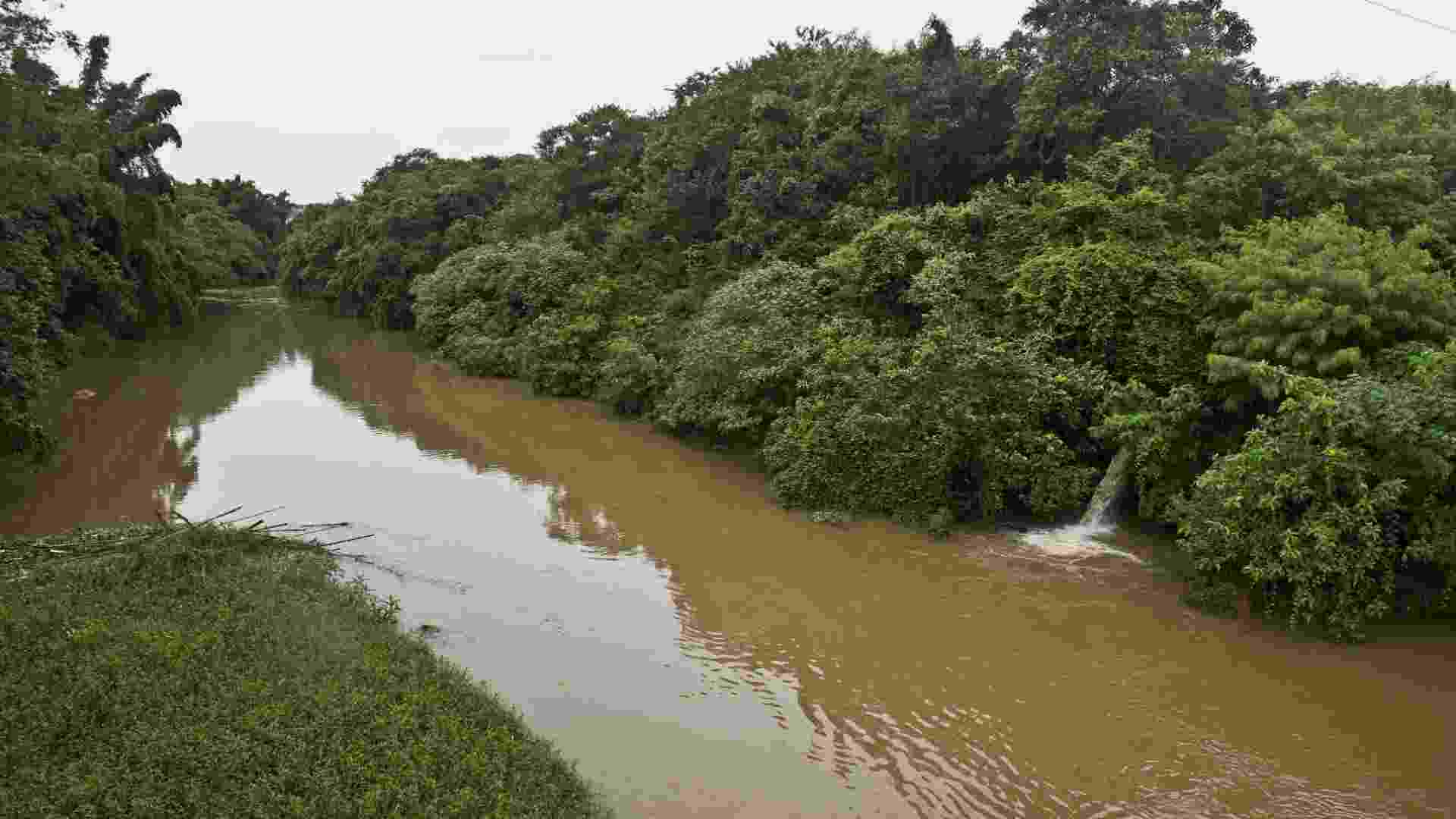 """25.mar.2013 - Vista do rio Jaguariúna, cerca de 130 quilômetros de São Paulo, que integra um programa de despoluição e que vai assegurar o abastecimento de água no Estado de São Paulo, inclusive na região metropolitana, onde cerca de 20 milhões de pessoas consomem 65 mil litros de água por segundo. O """"Projeto Bacias, que é uma parceria entre a ONG The Nature Conservancy e a cervejaria Ambev, vai pagar por """"serviços ambientais"""" dos agricultores para que preservem suas terras e recuperem a vegetação, mantendo limpa a bacia dos rios Piracicaba-Capivari-Jundiaí, que fornece água a 4,5 milhões de pessoas nos Estados de São Paulo e Minas Gerais - Nelson Almeida/AFP"""