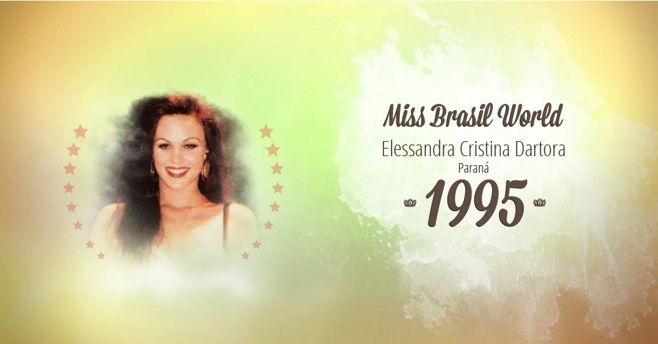 Elessandra Cristina Dartora representou Paraná e venceu o Miss Brasil World 1995