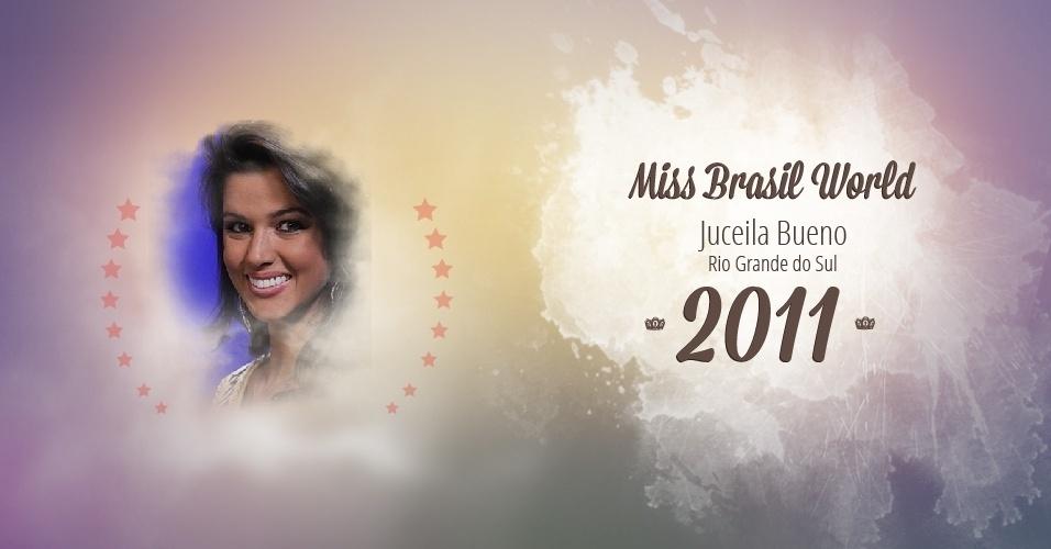Juceila Bueno representou Rio Grande do Sul e venceu o Miss Brasil World 2011